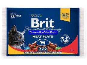 Brit Premium Cat Pouches Meat Plate 4x100
