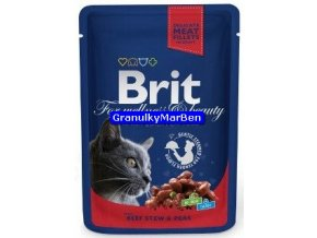 Brit Premium Cat Pouches with Beef Stew and Peas