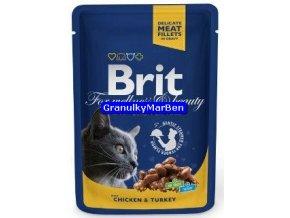 Brit Premium Cat Pouches with Chicken and Turkey