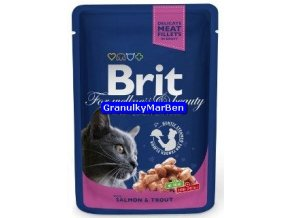 Brit Premium Cat Pouches with Salmon and Trout