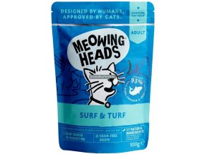 kapsicka Meowing Heads Surf and Turf
