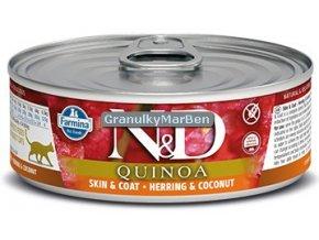 konzerva ND Feline Quinoa Skin Coat Herring