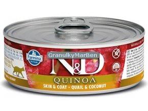 konzerva ND Feline Quinoa Skin Coat Quail