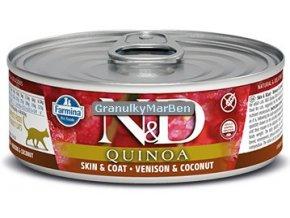 konzerva ND Feline Quinoa Skin Coat Venison
