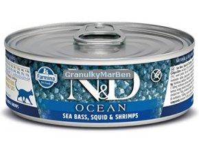 konzerva ND Feline Ocean Sea Bass Squils
