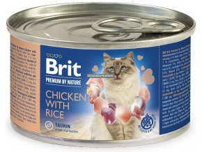 konzerva Brit Cat Premium Chicken rice