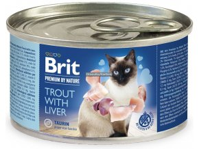 konzerva Brit Cat Premium Trout liver