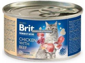 konzerva Brit Cat Premium Chicken beef