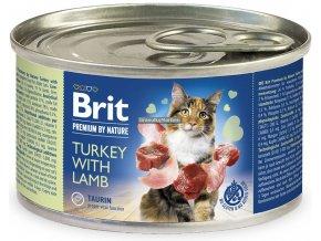 konzerva Brit Cat Premium Turkey lamb
