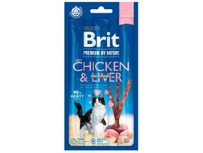 zvykaci tycinky Brit premium chicken liver
