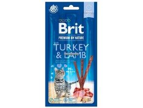zvykaci tycinky Brit premium turkey lamb