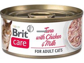 konzerva Brit Care cat tuna chicken milk