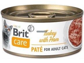 konzerva Brit Care cat turkey ham
