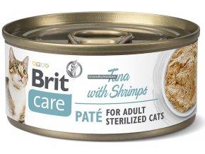 konzerva Brit Care cat sterilized tuna shrimps