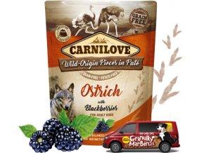 Kapsicka Carnilove Ostrich blackberries