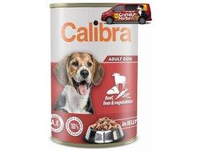 calibra dog konzerva 1240g beef liver vegetables