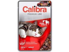 Calibra Cat kapsa Premium Adult chicken beef