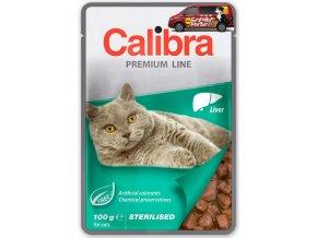 Calibra Cat kapsa Premium Sterilised liver