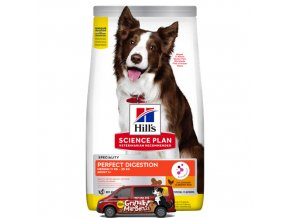sp canine adult perfect digestion medium breed chicken brown rice