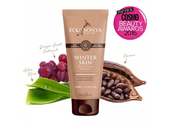 prirodni samoopalovaci mleko winter skin eco by sonya