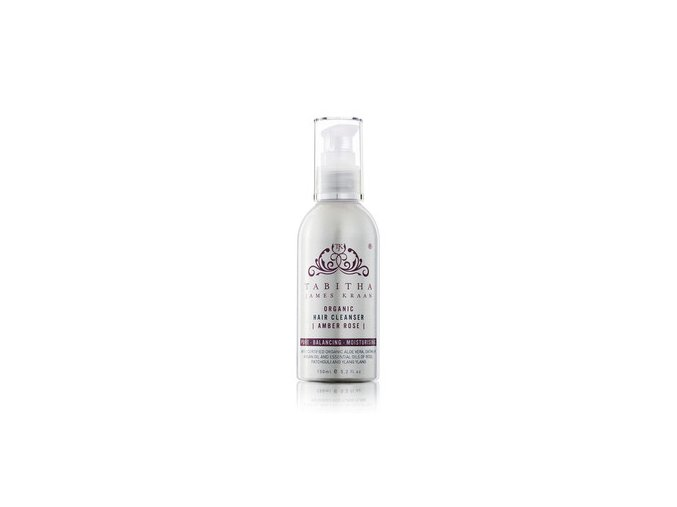 medium tabithajameskraan organic hair cleanser amber rose 150ml