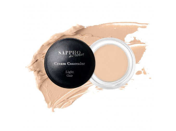 Full coverage natural concealer for Light skin tone open jar with swatch white background 1800x1800