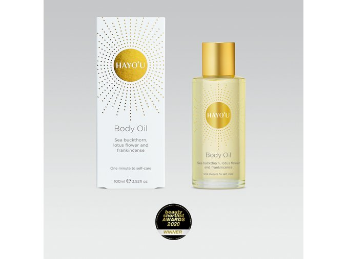 hayou body oil and box straight a