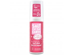 Natural deodorant spray sweet strawberry front pack 2048x
