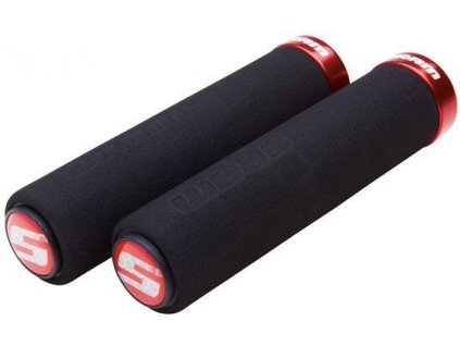 Gripy Locking penové čierne červené