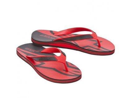 Fraction sandale červená čierna 01