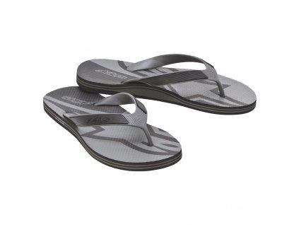 Fraction sandale šedá čierna 01