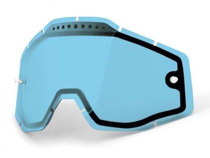 Blue double lens