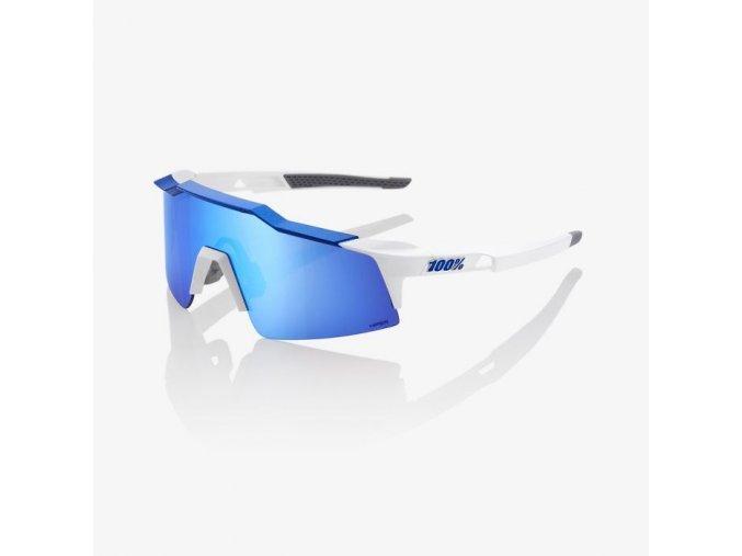 100 bryle speedcraft sl matte white metallic blue hiper blue multilayer mirror 01