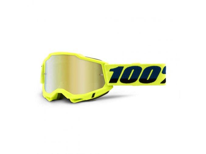 accuri 2 goggle yellow mirror gold lens