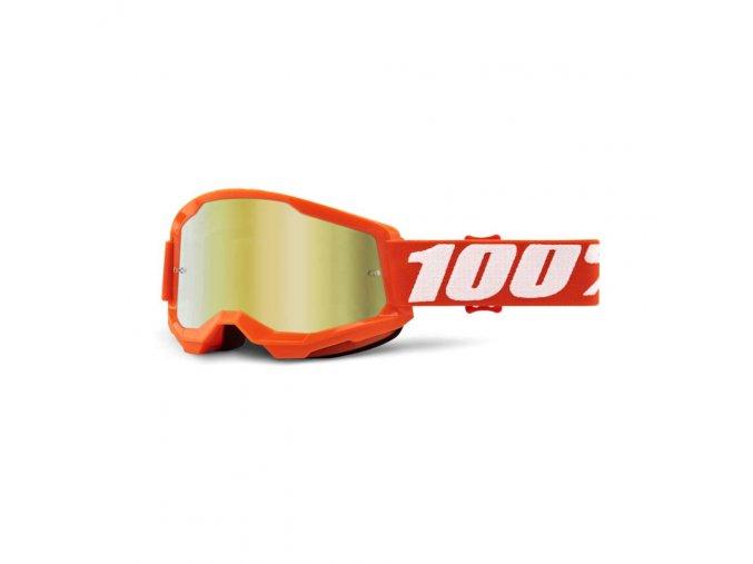 strata 2 goggle orange mirror gold lens