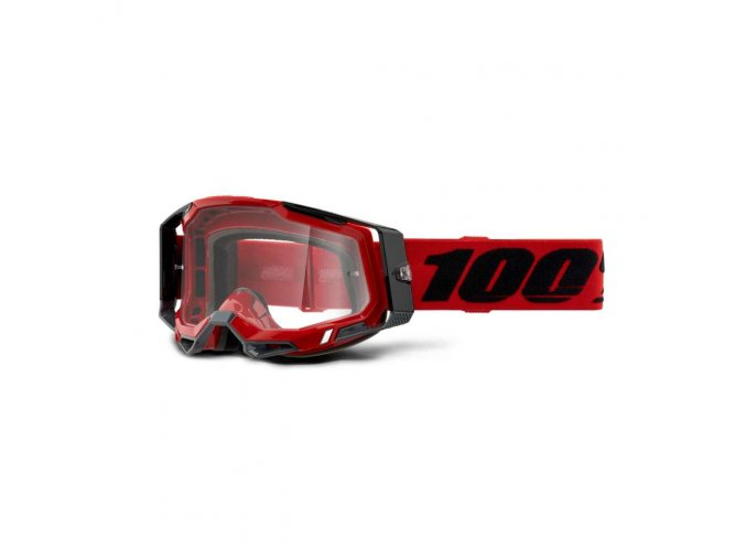 racecraft 2 goggle red clear lens