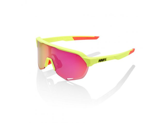 s2 matte washed out neon yellow purple multilayer mirror lens