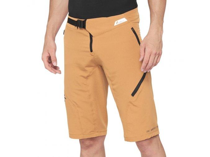 Kraťasy 100% AIRMATIC Shorts Caramel