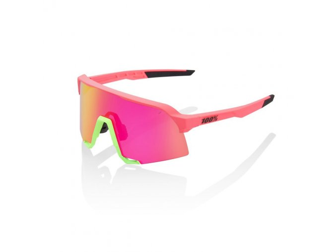 s3 matte washed out neon pink purple multilayer mirror lens