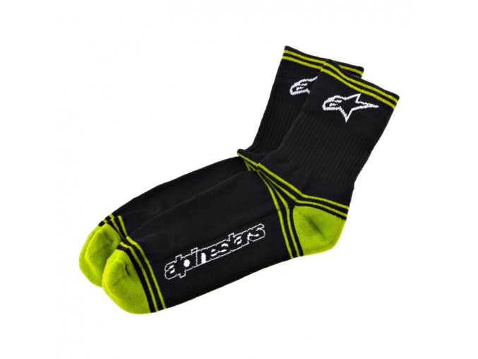 mtb winter socks black lime 1