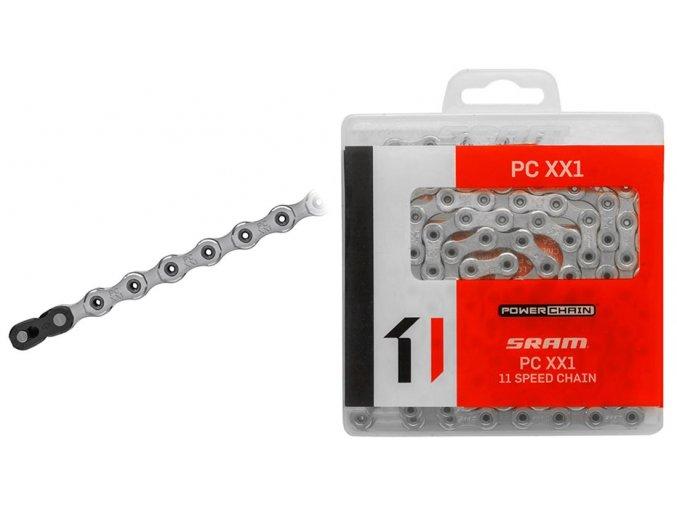Reťaz PC XX1 HollowPin 118čl. spojka PowerLock, 11 speed 02