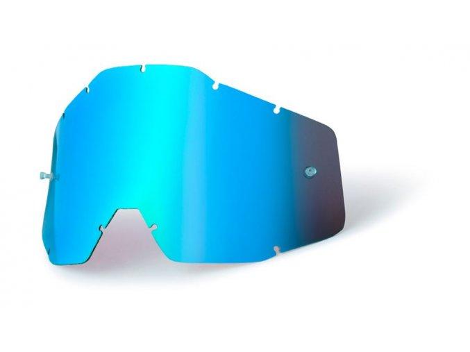 Blue mirror lens