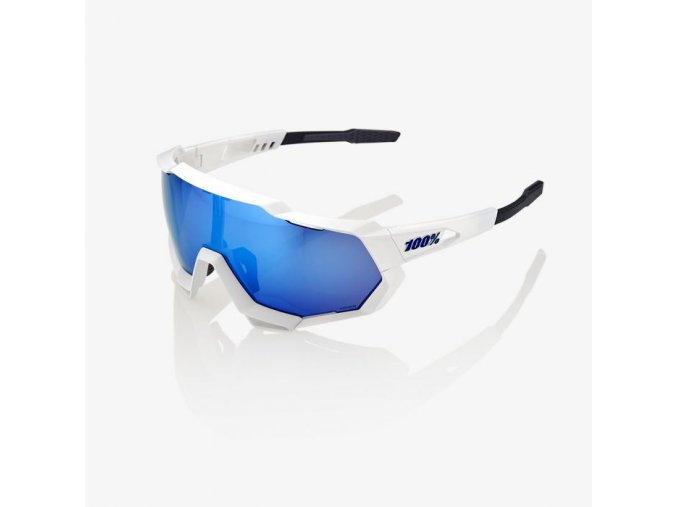 Speedtrap Matte White HiPER Blue Multilayer Mirror 01