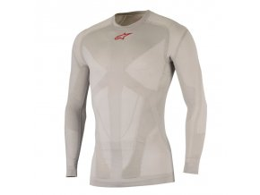 Tech Top Long Sleeve Summer Silver Red 01