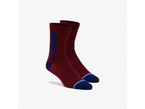 rythym merino performance socks brick