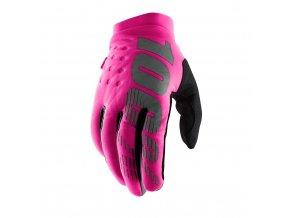 Brisker Womwns Neon Pink Black 01