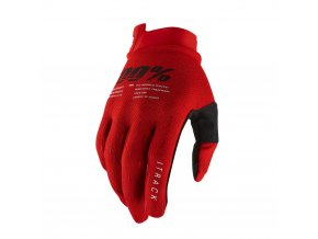 itrack gloves red sm