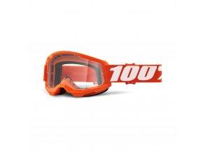 strata 2 goggle orange clear lens