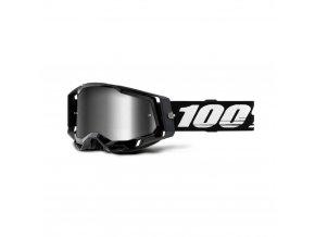 racecraft 2 goggle black mirror silver lens