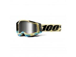 racecraft 2 goggle airblast mirror silver lens